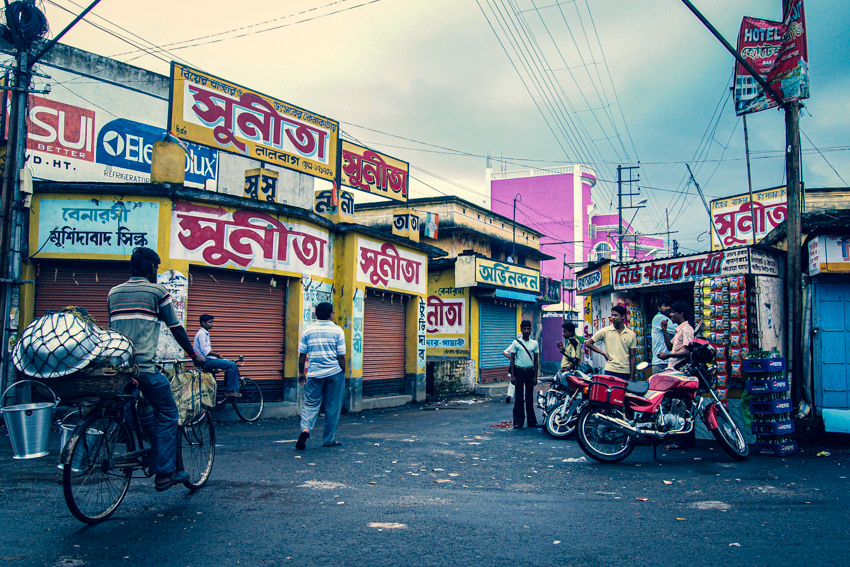 Colorful signboards