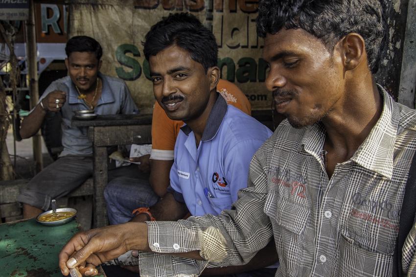 Men having lunch
