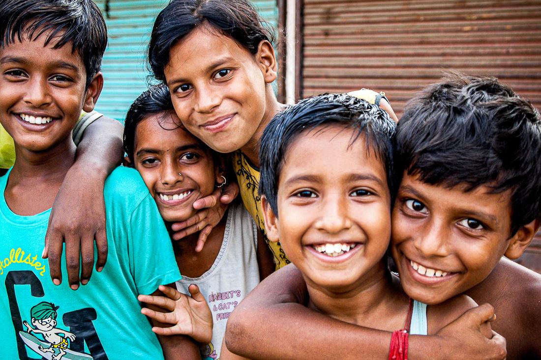 Children being happy