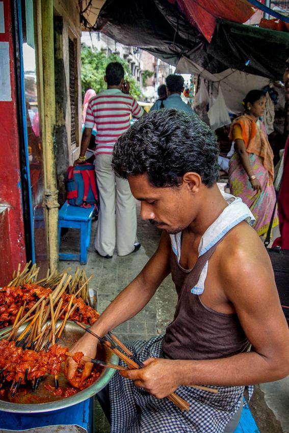 Man making Kebab