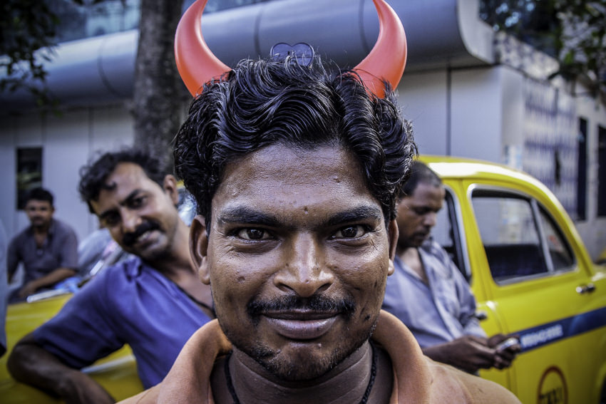Man with two horns