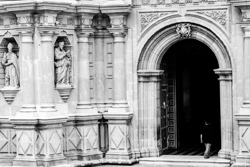 Entrance of Basílica de Nuestra Señora de la Soledad