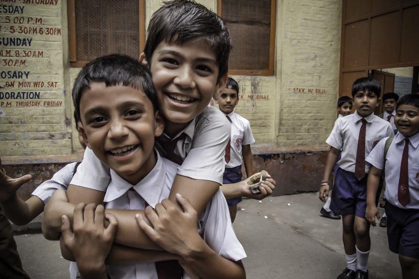 Smile of school boys