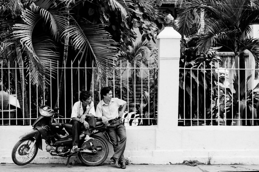 Motorbike and men