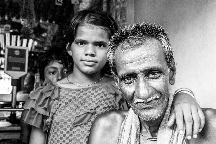 Girl and grandfather