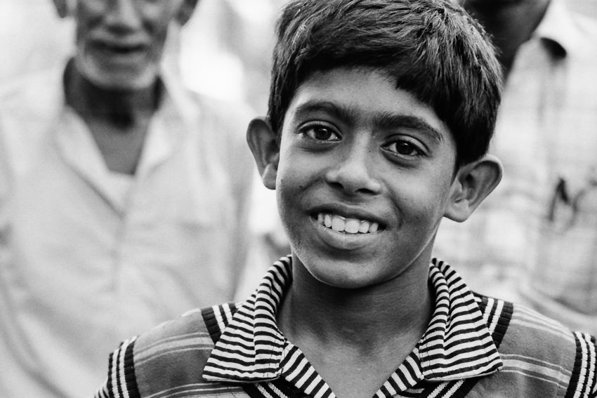 Jolly smile of boy