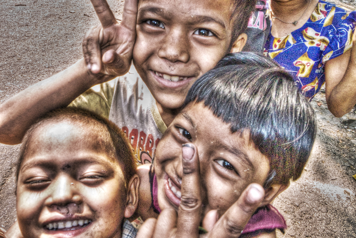 Peace Signs And Smile (Myanmar)