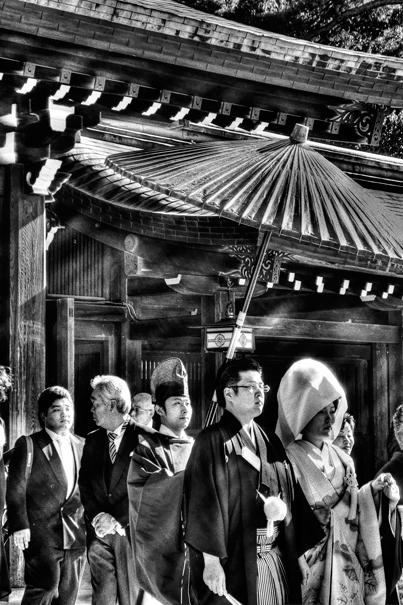 Bridal Couple In Meiji Jingu (Tokyo)