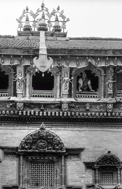 Woman By The Window Of Kumari House @ Nepal