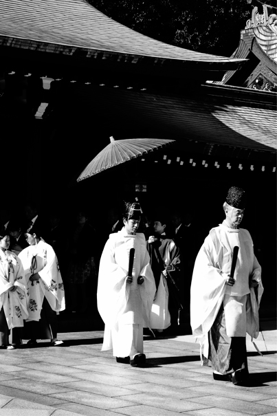 Two Priests In The Shrine (Tokyo)