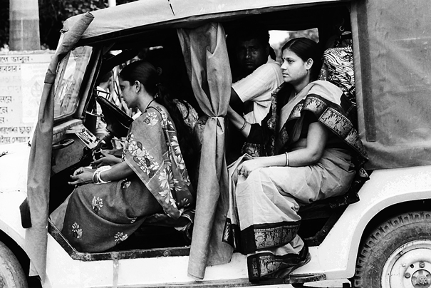 Women on car