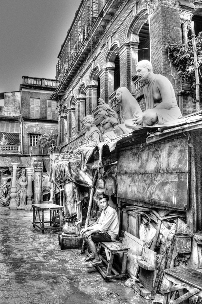Man Under Statues (India)
