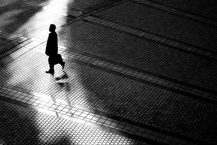 Silhouette In The Square (Tokyo)