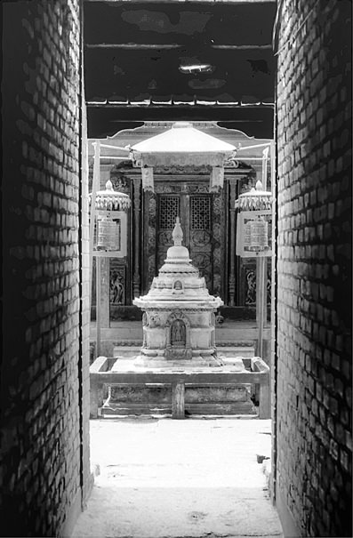 Small Stupa At The End Of The Lane (Nepal)