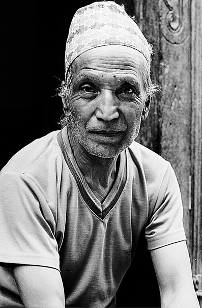 Man Wearing A Traditional Cap @ Nepal