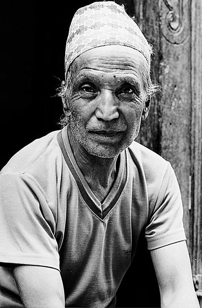 Man wearing Topi