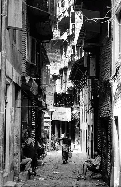 Dim Alleyway In The Old Quarter (Nepal)