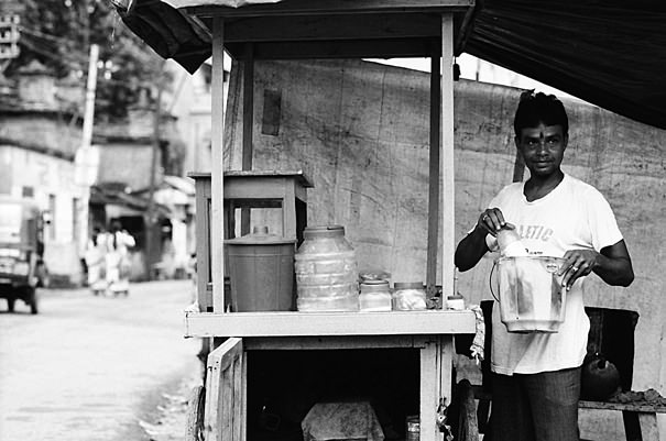 Man At A Food Stall @ India
