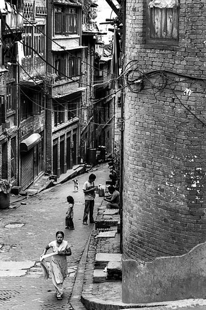 Slope In The Old Town (Nepal)