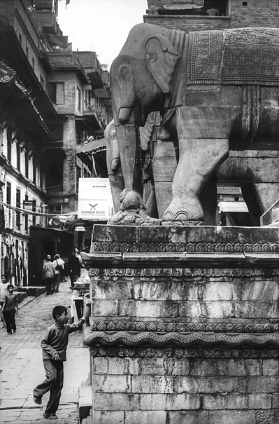 Elephant And Boy (Nepal)