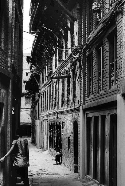 Girl Standing In The Alleyway (Nepal)