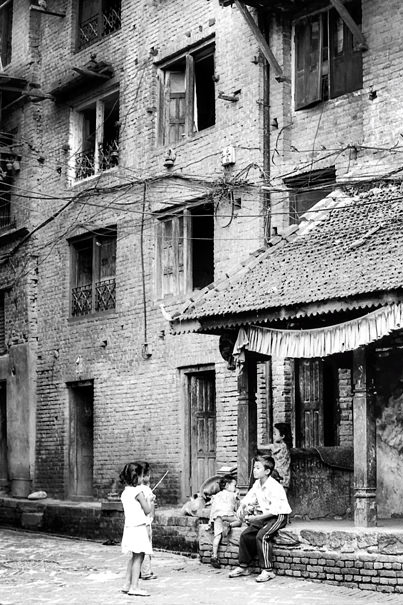 Children In The Old Quarter (Nepal)