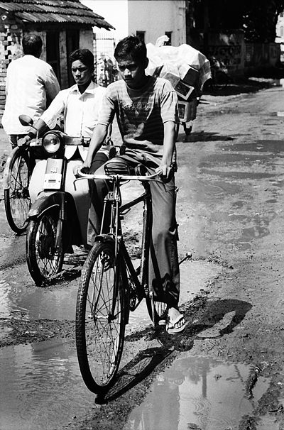 Man Riding The Bicycle @ India