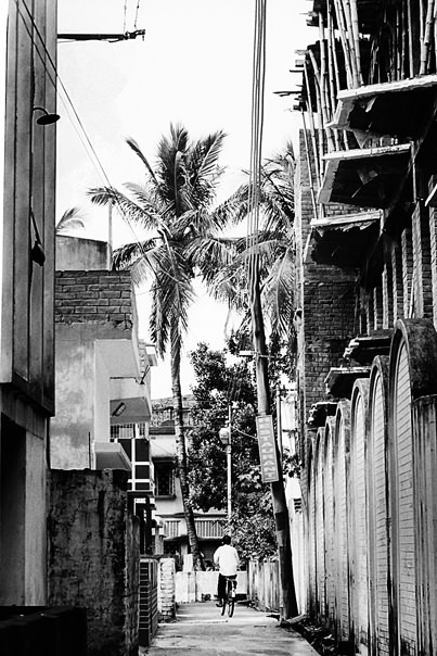 Bicycle In The Alleyway @ India