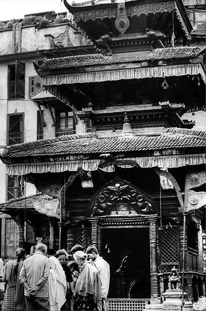 People In Front Of A Hall @ Nepal