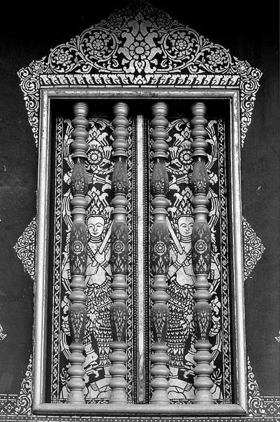Decorative Window Of A Temple (Laos)