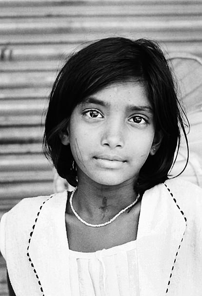 Girl Wearing A Necklace @ India