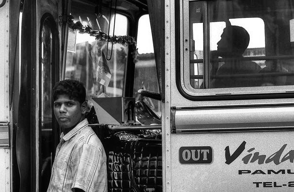 Conductor Of A Bus @ Sri Lanka
