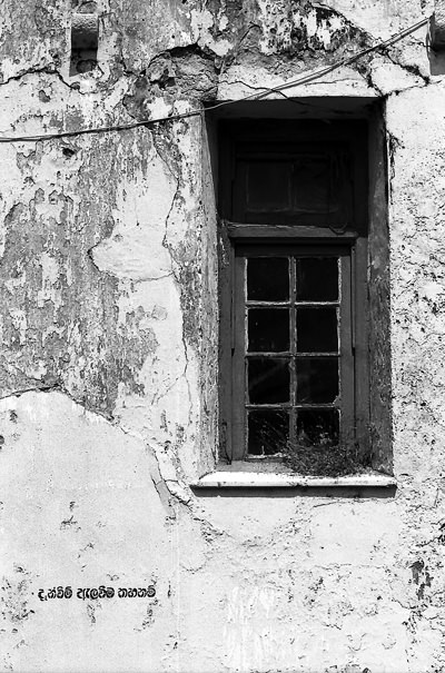 Window On The Dilapidated Wall (Sri Lanka)