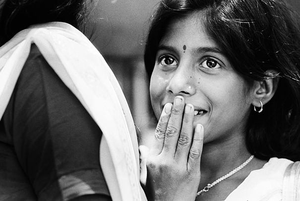 Smiling Girl With A Feminine Gesture @ India