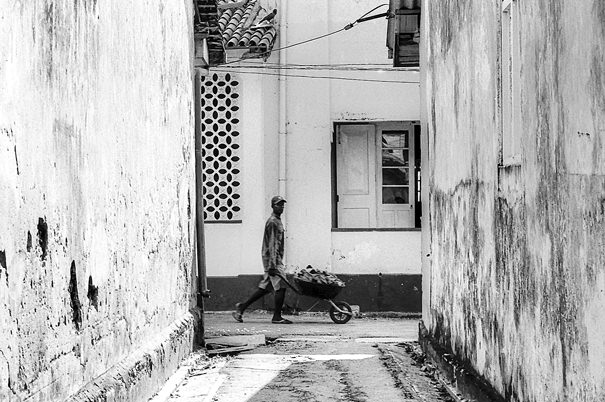 Man And Wheelbarrow @ Sri Lanka