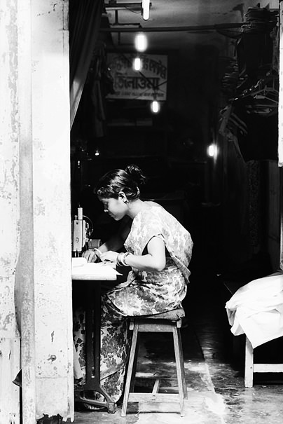 Woman Was Sewing @ India