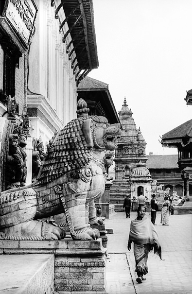Statue Of A Lion And Woman @ Nepal