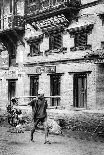 Man Carrying A Yoke @ Nepal