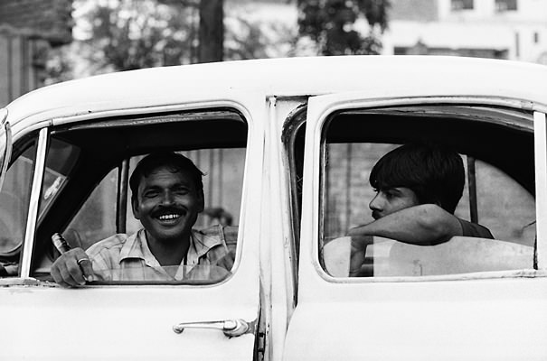 Two Men On The Car @ India