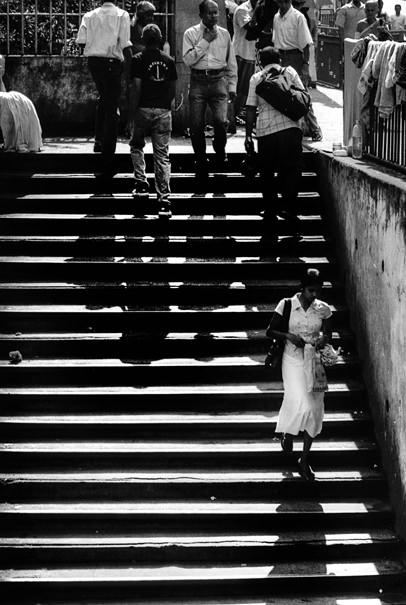 Young Woman In The Staircase @ Sri Lanka