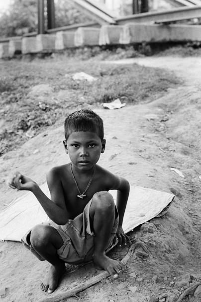 Boy By The Railway (India)