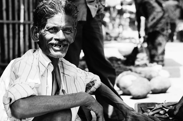 Man Missing Some Front Teeth @ India