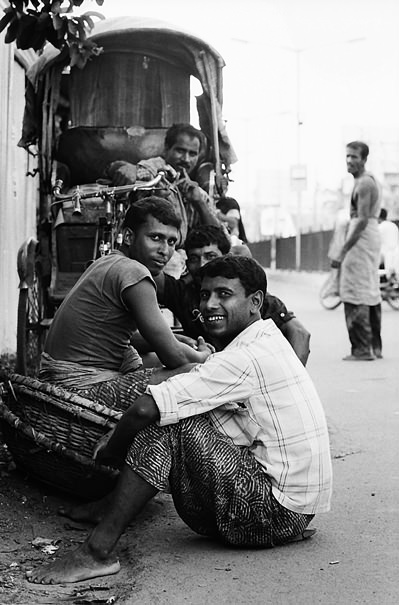 Laborers Hanging Out By The Wayside (India)