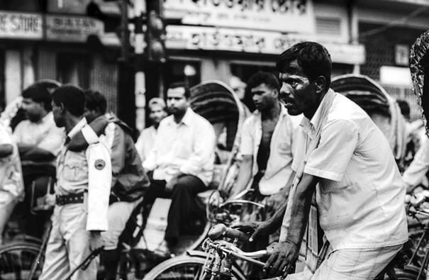 Rickshaw Wallah With A Rough Face (Bangladesh)