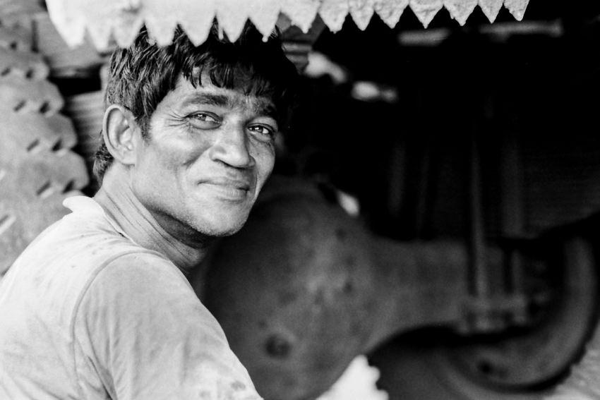 Smile of repairman