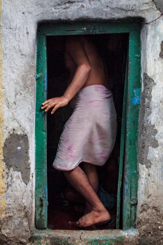 Man entering into house
