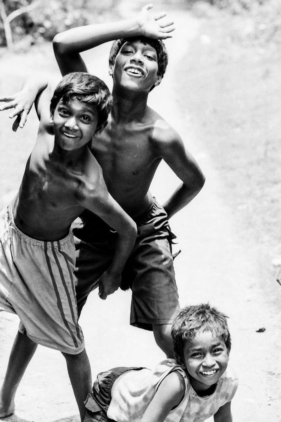 喜色満面の男の子たち