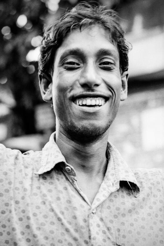 Horse Faced Man Was Laughing India Boxman Fotologue