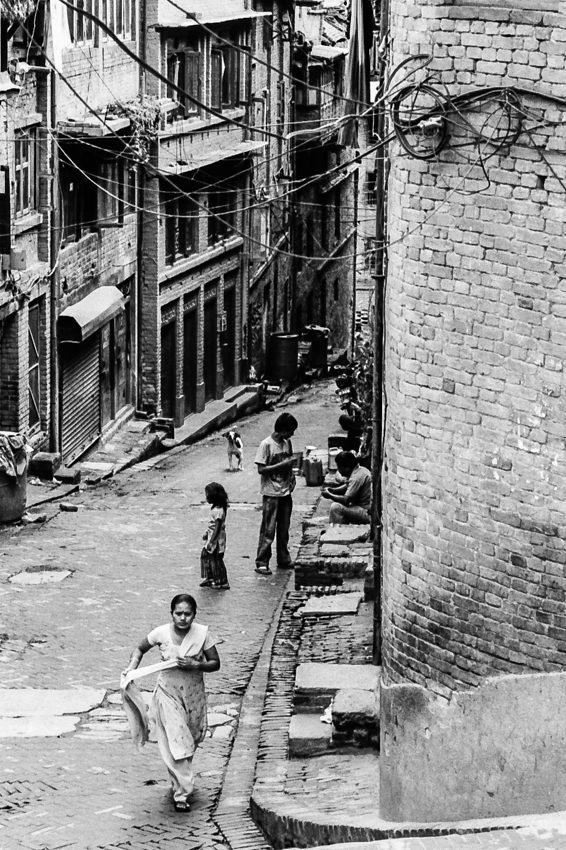 旧市街の坂道