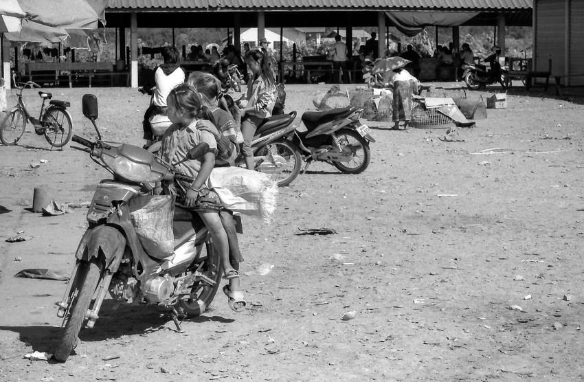 Sisters on motorbike